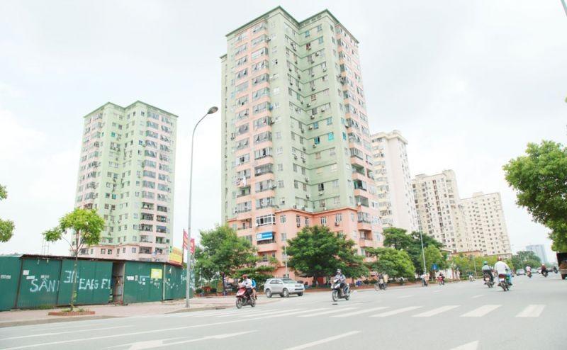 Nhà tái định cư Khu đô thị Nam Trung Yên.
