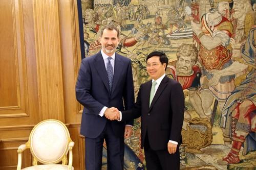 Phó Thủ tướng Phạm Bình Minh hội kiến Nhà vua, hội đàm với Ngoại trưởng Tây Ban Nha - ảnh 1
