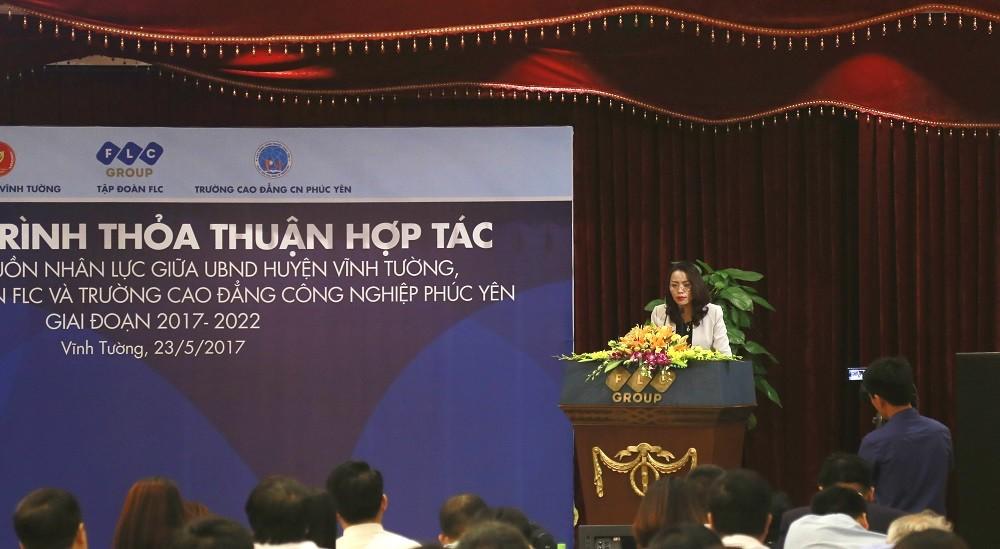 Tập đoàn FLC kỳ vọng tạo việc làm cho 4.000 lao động của huyện Vĩnh Tường - ảnh 1