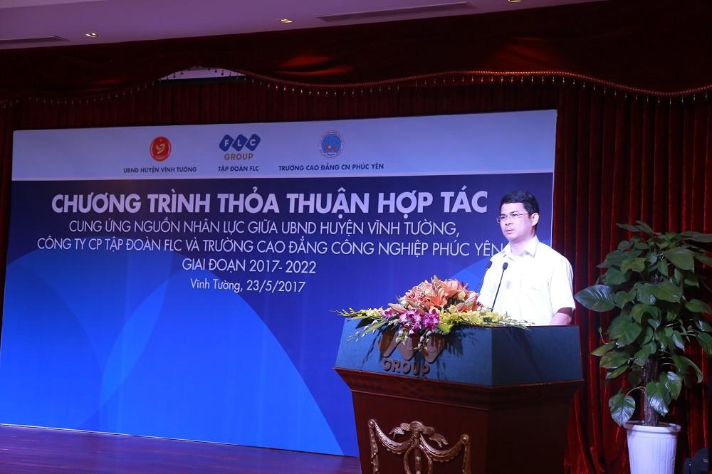 Tập đoàn FLC kỳ vọng tạo việc làm cho 4.000 lao động của huyện Vĩnh Tường - ảnh 2