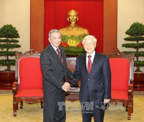 Tổng Bí thư Nguyễn Phú Trọng tiếp đồng chí Jose Ramon Balaguer Cabrera, Bí thư Trung ương Đảng Cuba. Ảnh: TTXVN