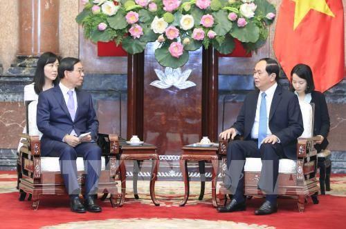 Chủ tịch nước Trần Đại Quang tiếp Đặc phái viên của Tổng thống Hàn Quốc - ảnh 1