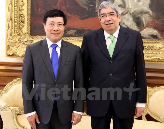 Phó Thủ tướng Phạm Bình Minh hội kiến Chủ tịch Quốc hội Bồ Đào Nha - ảnh 1
