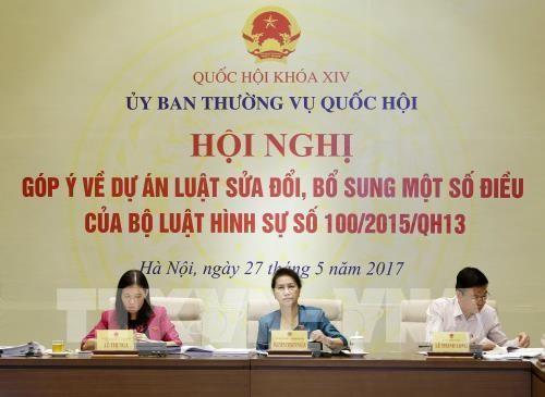 Chủ tịch Quốc hội Nguyễn Thị Kim Ngân chủ trì hội nghị. Ảnh: TTXVN