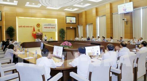 Phó Chủ tịch Quốc hội Uông Chu Lưu, Trưởng đoàn giám sát chủ trì phiên họp. Ảnh: TTXVN