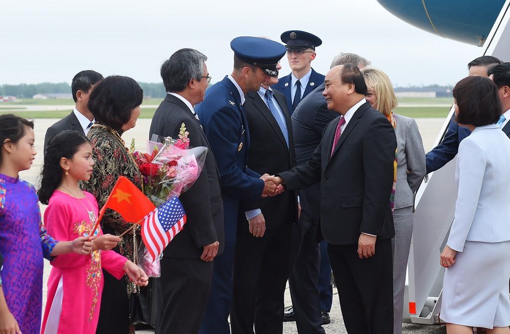 Hình ảnh lễ đón Thủ tướng tại Sân bay St. Andrews, Washington, Hoa Kỳ - ảnh 1
