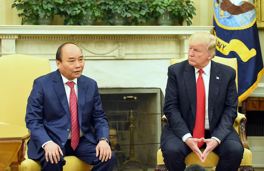 Thủ tướng Nguyễn Xuân Phúc hội đàm với Tổng thống Donald Trump - ảnh 1