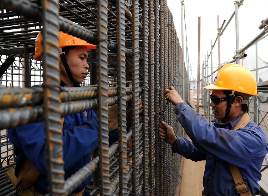 Chi đầu tư xây dựng cơ bản thực hiện 5 tháng ước đạt 21% dự toán. Ảnh: Tường Lâm