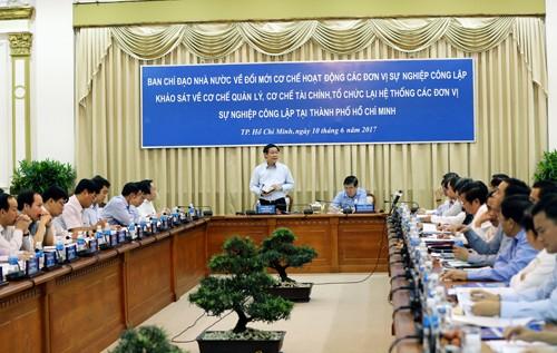 Phó Thủ tướng khảo sát tình hình các đơn vị sự nghiệp công tại TPHCM - ảnh 1