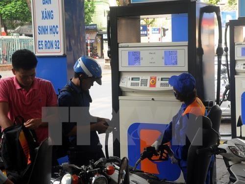Tăng thuế bảo vệ môi trường chưa tác động tới giá bán lẻ xăng dầu. Ảnh minh họa: TTXVN