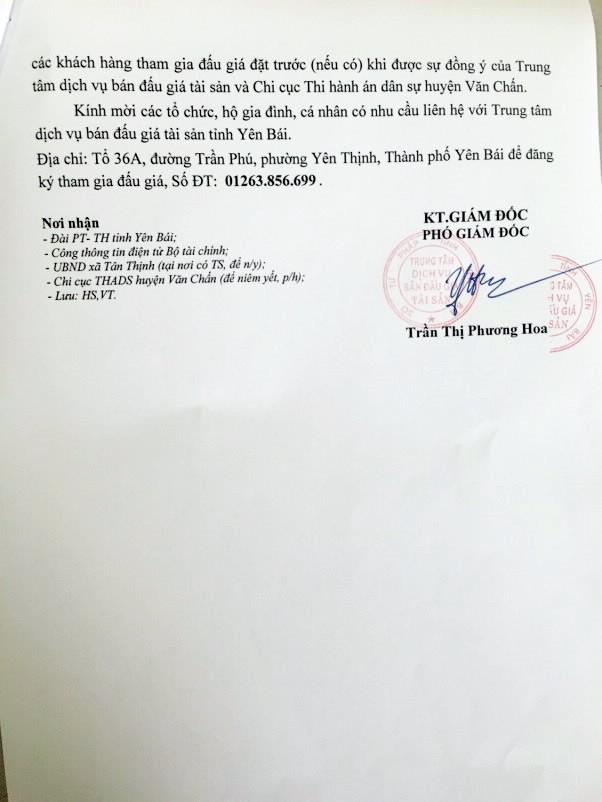 Đấu giá quyền sử dụng đất tại huyện Văn Chấn, Yên Bái - ảnh 2