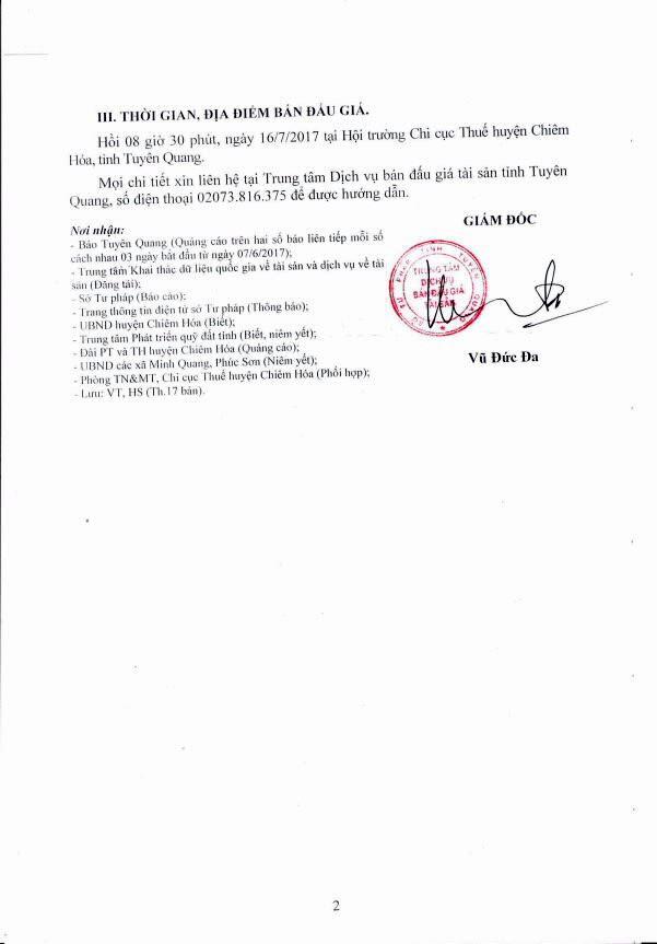 Đấu giá quyền sử dụng đất tại huyện Chiêm Hóa, Tuyên Quang - ảnh 2