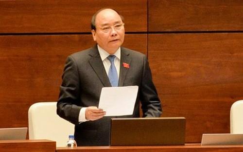 Theo chương trình các phiên chất vấn và trả lời chất vấn tại kỳ họp thứ ba của Quốc hội mới được điều chỉnh ngày 12/6, Thủ tướng Nguyễn Xuân Phúc sẽ không trực tiếp trả lời chất vấn.
