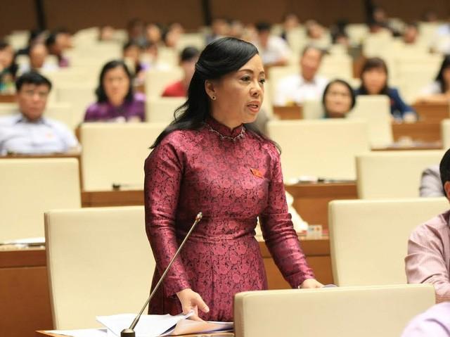 Toàn cảnh Bộ trưởng Nguyễn Thị Kim Tiến trả lời chất vấn