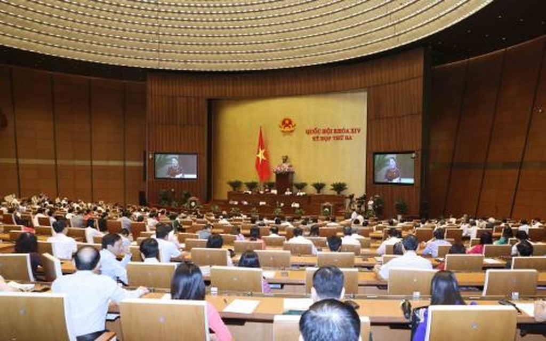 Chủ tịch Quốc hội Nguyễn Thị Kim Ngân phát biểu khai mạc phiên chất vấn và trả lời chất vấn. Ảnh: TTXVN