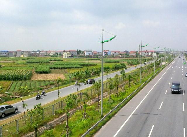 Hai bên tuyến đường Nhật Tân - Nội Bài sở hữu quỹ đất rộng rãi