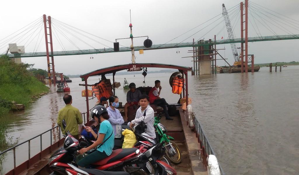 Dự án cầu Ba Vì - Việt Trì đang trong giai đoạn thi công. Ảnh: Báo Giao thông