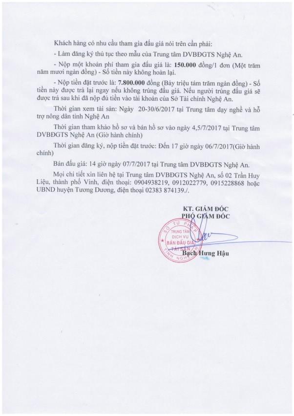 Đấu giá vật liệu thu hồi của UBND huyện Tương Dương, Nghệ An - ảnh 2