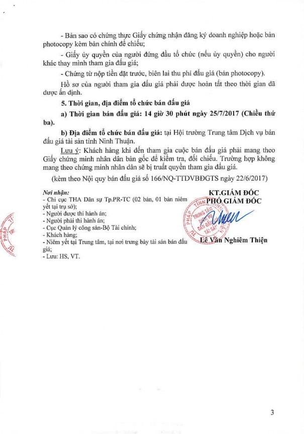 Đấu giá xe ô tô tải tại Ninh Thuận - ảnh 3