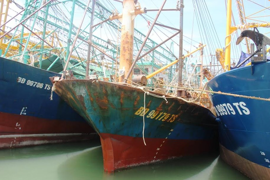 Tàu vỏ thép do Công ty Đại Nguyên Dương đóng bị gỉ sét. Ảnh: Vietnamnet