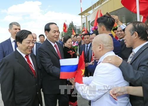Lễ đón Chủ tịch nước tại Sân bay Vnucovo-2 - ảnh 3
