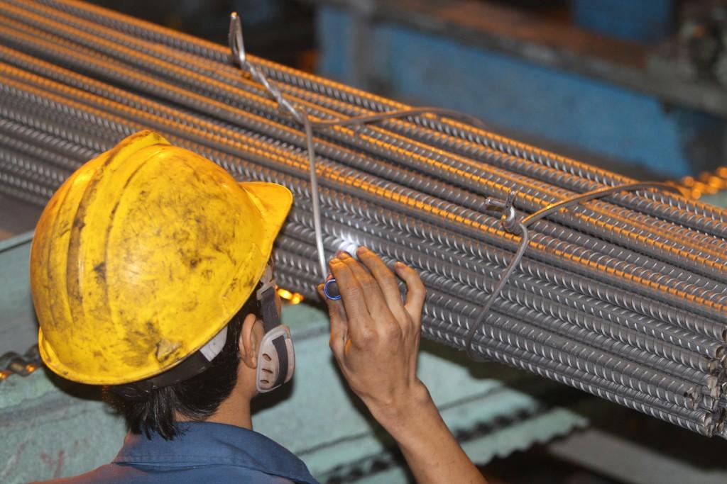 KLH Gang thép Hòa Phát Dung Quất có công suất 4 triệu tấn/năm. Ảnh: Tường Lâm