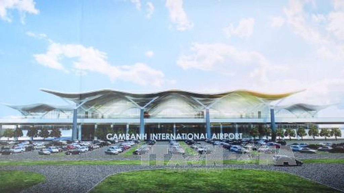 Phối cảnh Nhà ga quốc tế tại Cảng hàng không quốc tế Cam Ranh (CIAS). Ảnh: TTXVN