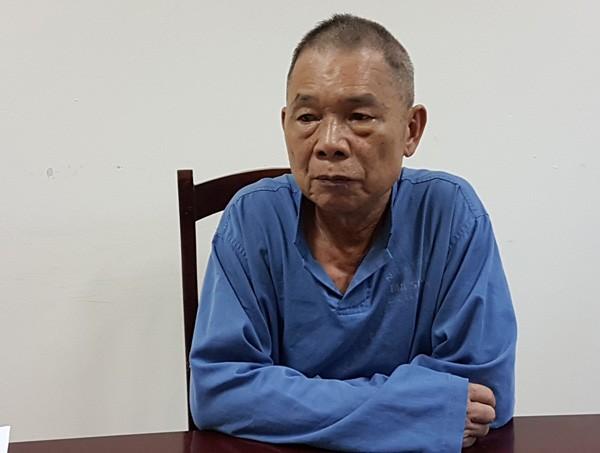 """""""Trung tướng tình báo quân đội rởm""""  Nguyễn Lâm Hợi tại Cơ quan điều tra."""