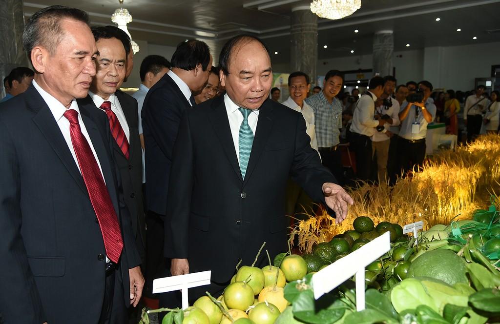 Thủ tướng Nguyễn Xuân Phúc dự hội nghị xúc tiến đầu tư tại Hậu Giang. Ảnh: VGP