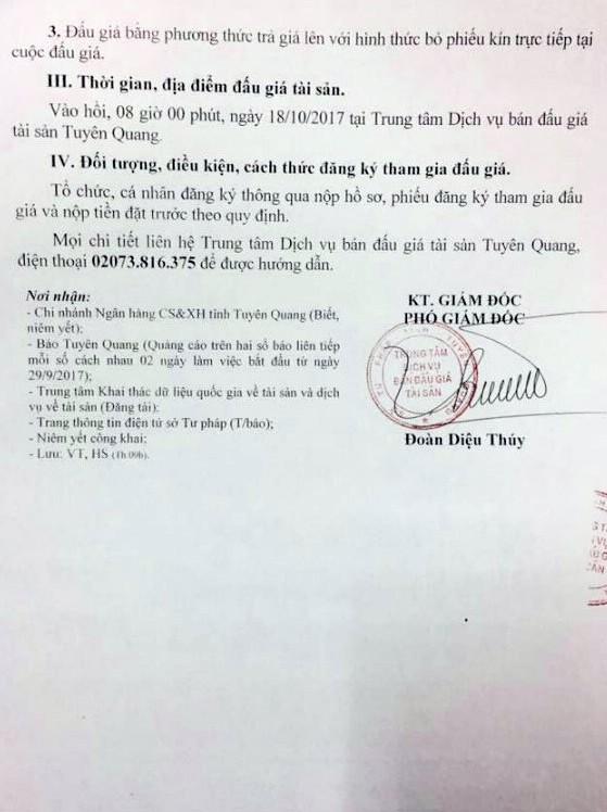 Đấu giá xe ô tô đã qua sử dụng tại Tuyên Quang - ảnh 2