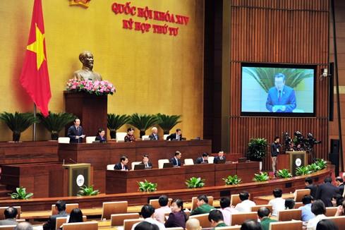 Quốc hội thảo luận về tình hình kinh tế - xã hội, dự toán ngân sách nhà nước năm 2017 và năm 2018. Ảnh: VGP