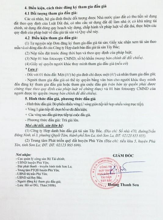 Đấu giá quyền sử dụng đất tại huyện Phù Yên, Sơn La - ảnh 8