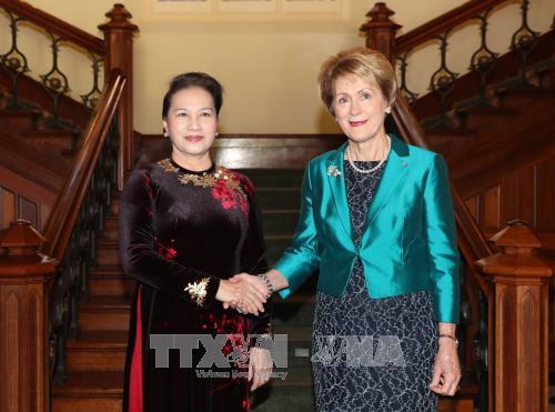 Chủ tịch Quốc hội Nguyễn Thị Kim Ngân và bà Kerry Sanderson, Thống đốc bang Tây Australia