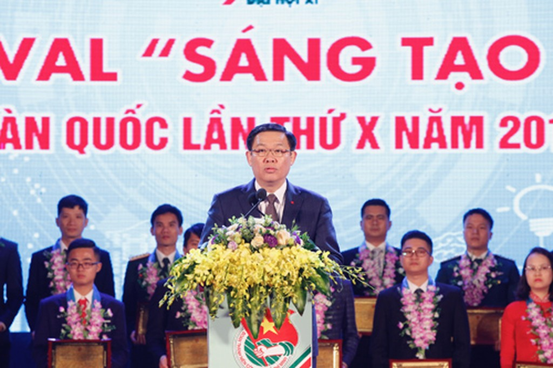 Phó Thủ tướng Vương Đình Huệ mong muốn phong trào tuổi trẻ sáng tạo cần phải thực sự trở thành sân chơi khơi nguồn sáng tạo của tuổi trẻ. Ảnh: VGP