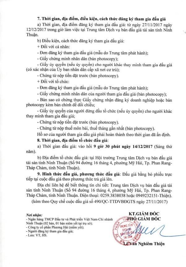 Đấu giá máy đào bánh lốp tại Ninh Thuận - ảnh 2