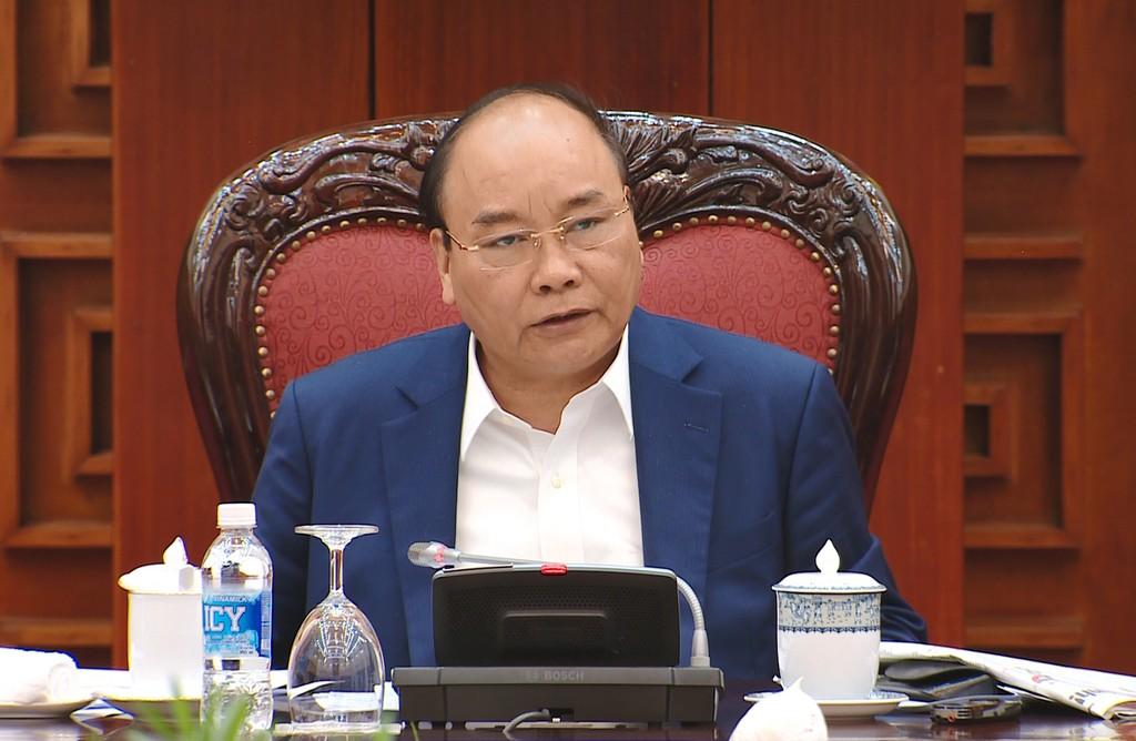 Thủ tướng phát biểu tại cuộc họp. Ảnh: VGP