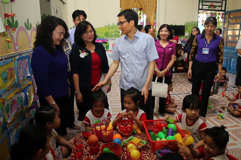 Phó Thủ tướng khảo sát một số nhóm, lớp mầm non ở Đồng Nai - ảnh 1