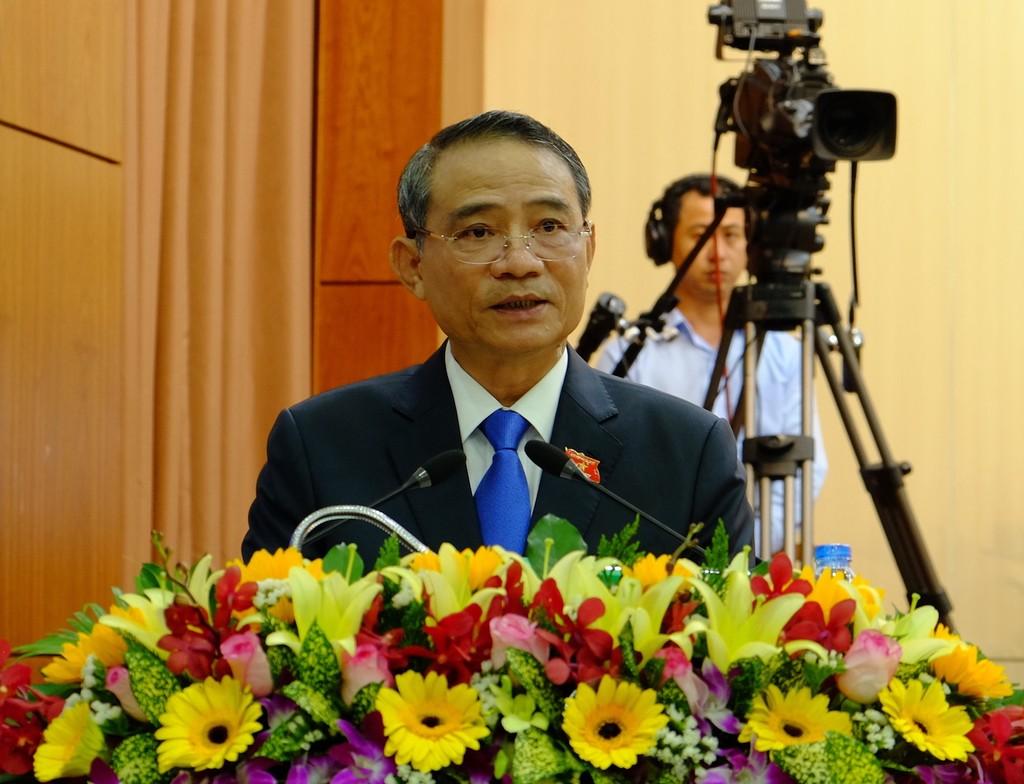 Bí thư Thành ủy Đà Nẵng Trương Quang Nghĩa phát biểu tại kỳ họp. Ảnh: VGP