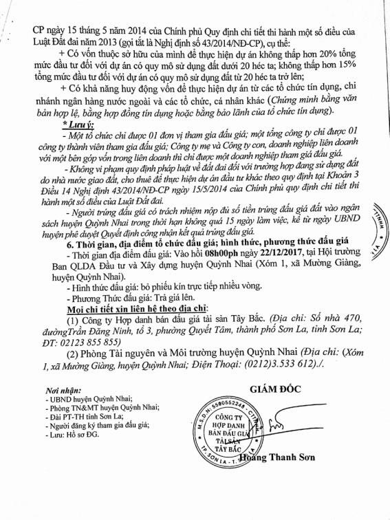 Đấu giá quyền sử dụng đất tại huyện Quỳnh Nhai, Sơn La - ảnh 3