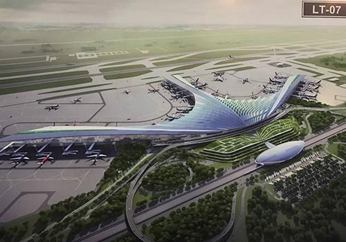 Chủ đầu tư đã đề xuất phương án lá cọ cho nhà ga sân bay Long Thành.