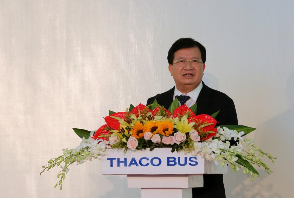 Phó Thủ tướng Trịnh Đình Dũng phát biểu tại Lễ khánh thành. Ảnh: VGP