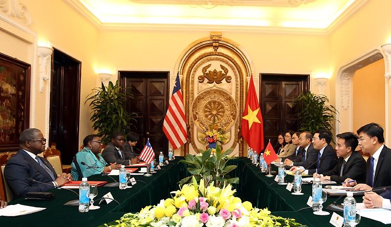 Việt Nam coi trọng phát triển quan hệ hữu nghị với Liberia - ảnh 1