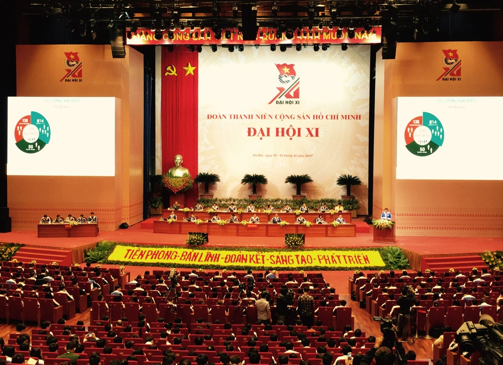 Toàn cảnh phiên thứ nhất Đại hội đại biểu toàn quốc Đoàn TNCS Hồ Chí Minh lần thứ XI. Ảnh: VGP