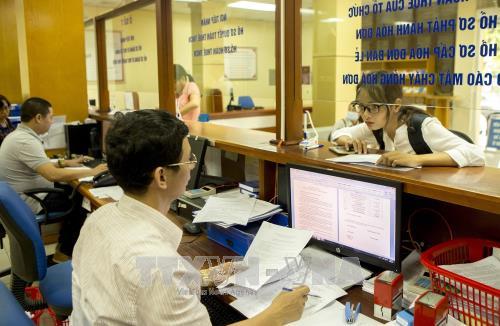 Từ ngày 11/12/2017 đến 10/3/2018, Tổng cục Thuế triển khai mở rộng hệ thống Dịch vụ Thuế điện tử cho doanh nghiệp tại Bắc Ninh, Phú Thọ. Ảnh minh họa: TTXVN