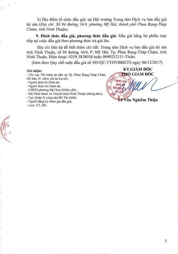 Đấu giá quyền sử dụng đất, quyền sở hữu nhà và TSGLVĐ tại TP.Phan Rang-Tháp Chàm, Quảng Ngãi - ảnh 3