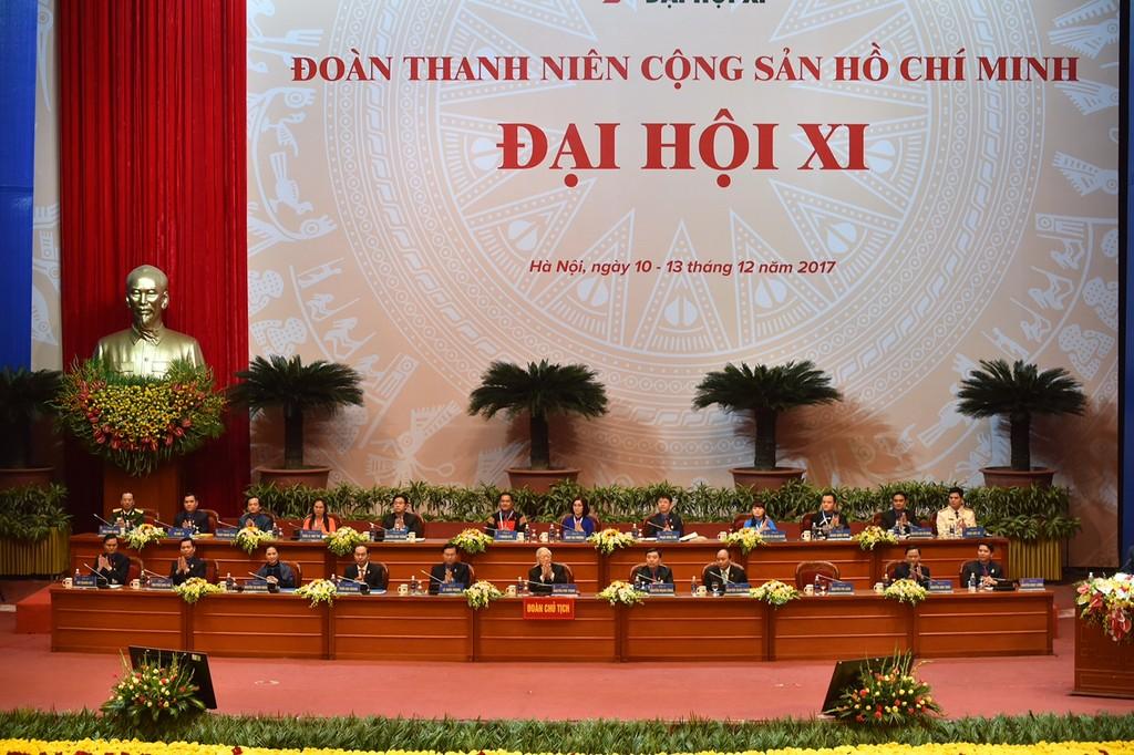 Đại hội đại biểu toàn quốc Đoàn TNCS Hồ Chí Minh lần thứ XI, nhiệm kỳ 2017 – 2022 chính thức khai mạc sáng 11/12 - Ảnh: VGP