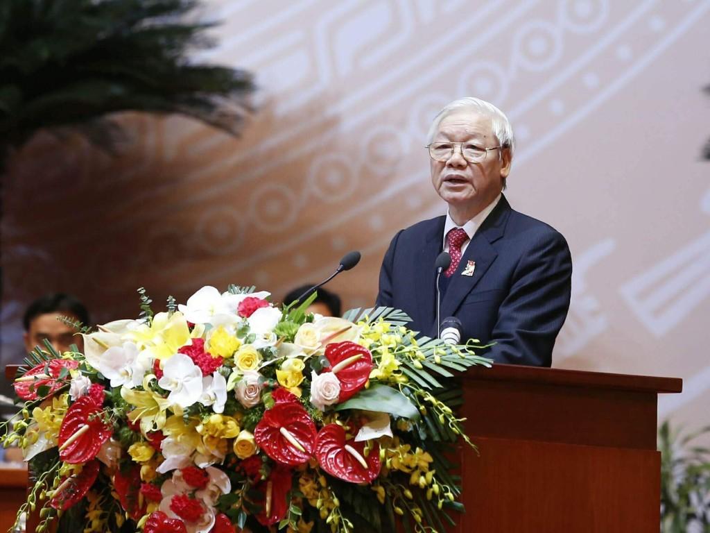 Tổng Bí thư Nguyễn Phú Trọng phát biểu chỉ đạo Đại hội Đoàn TNCS Hồ Chí Minh lần thứ XI- Ảnh: VGP