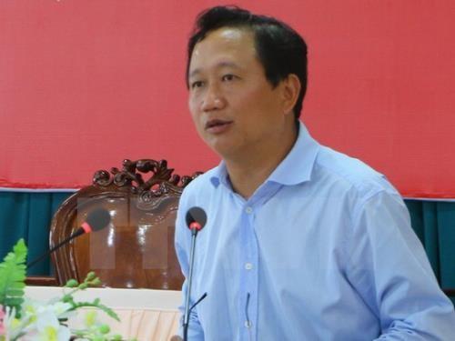 Tại cuộc họp báo, Bộ Nội vụ tiếp tục trả lời về các vấn đề liên quan đến vụ thất lạc hồ sơ của Trịnh Xuân Thanh. Ảnh: TTXVN