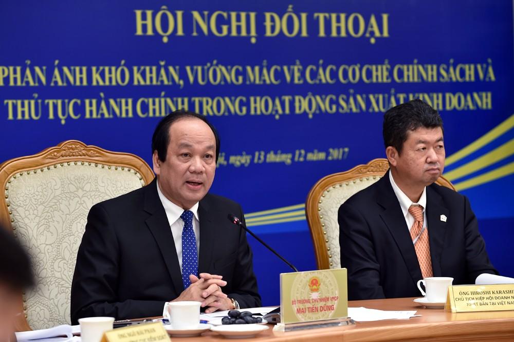 Bộ trưởng, Chủ nhiệm VPCP Mai Tiến Dũng phát biểu tại hội nghị. - Ảnh: VGP