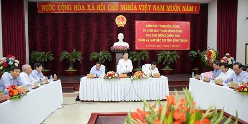 Bình Thuận cần đi sâu phát triển lĩnh vực công nghiệp thế mạnh - ảnh 1